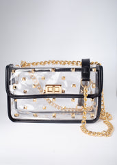 Clear Studded Out Bag