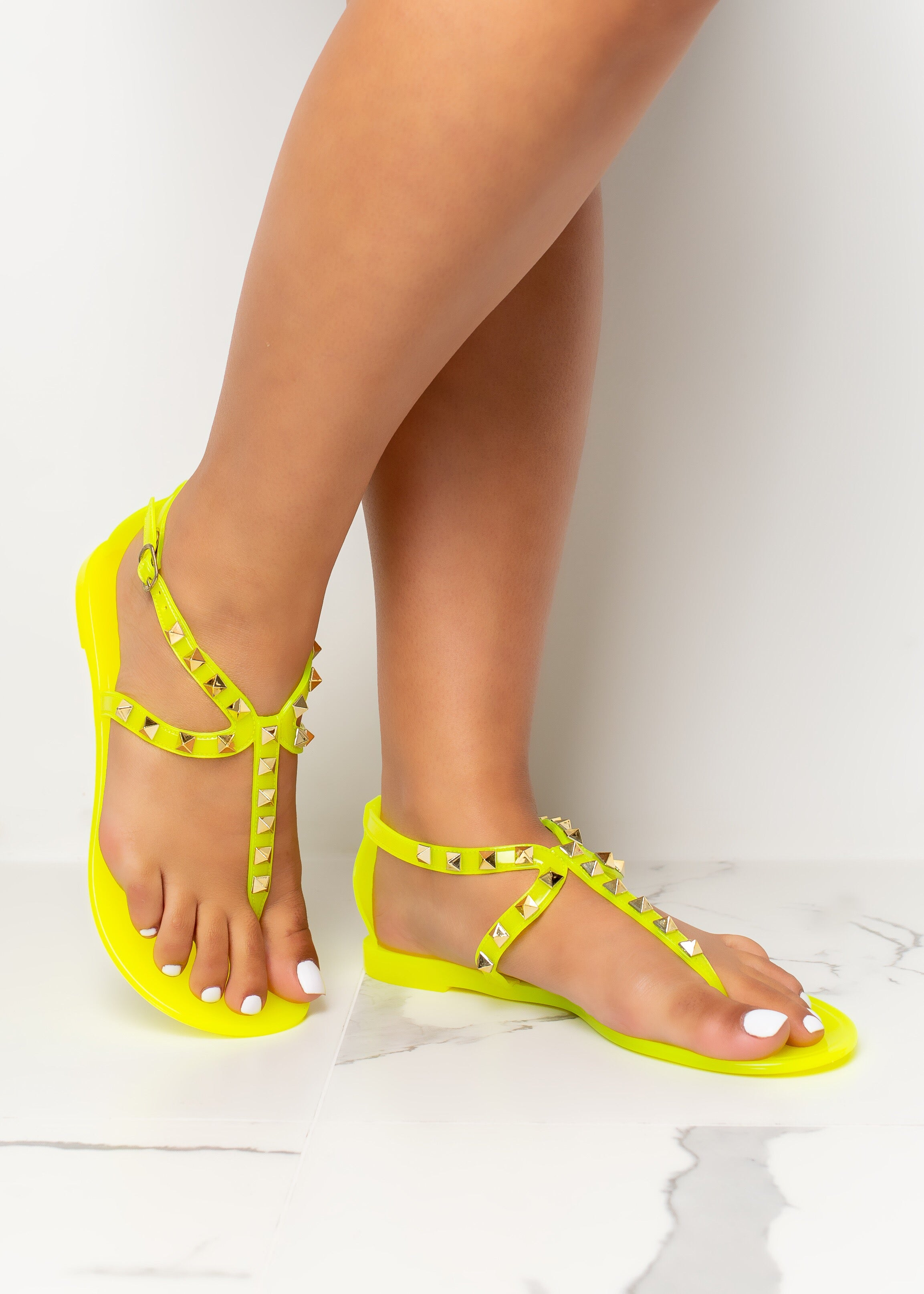 Ready For It Yellow Jelly Sandals