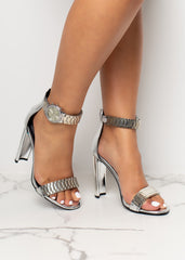 All The Time Silver Patent Heels