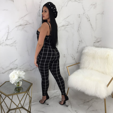 Demi Square Print Overall Set