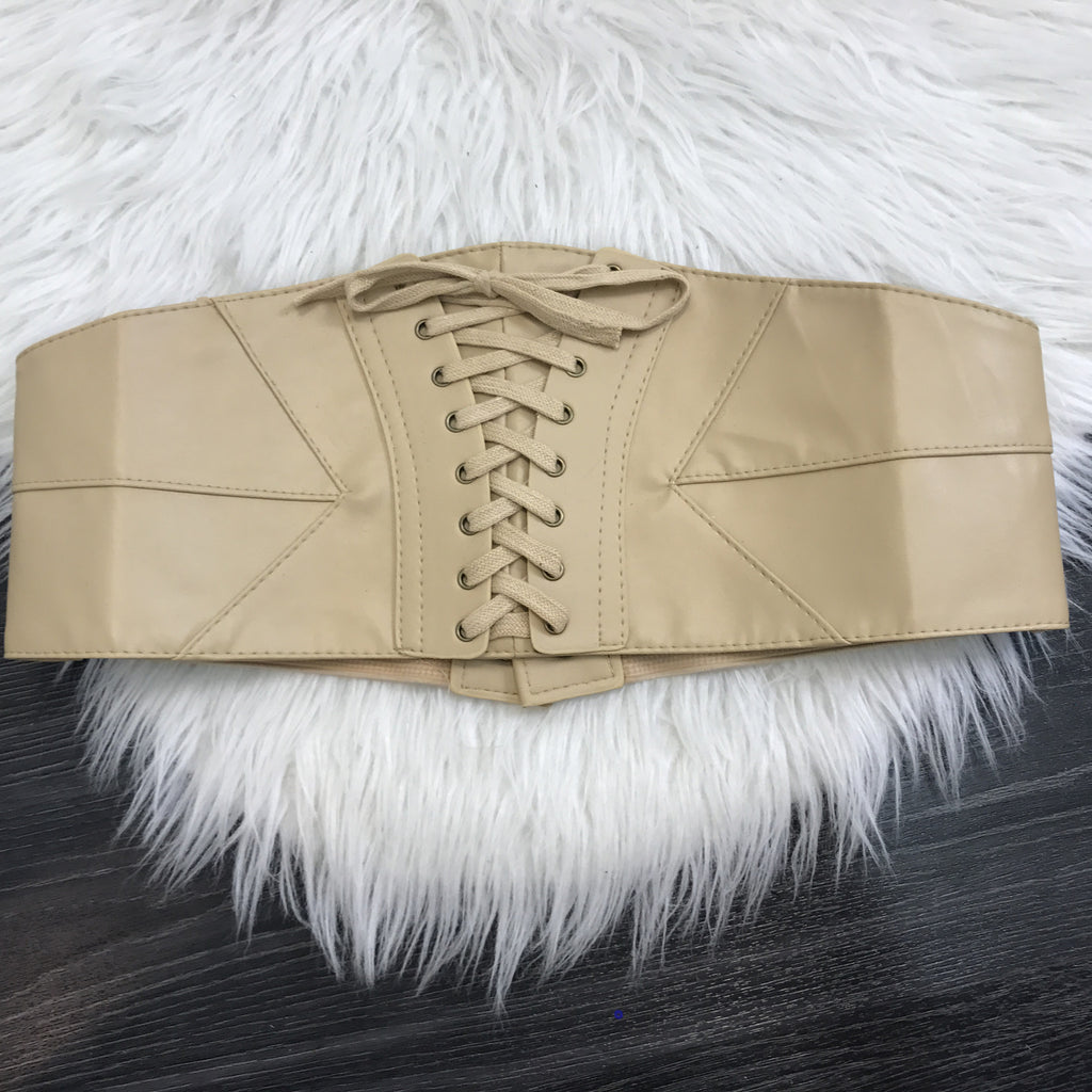 Corset Leather Belt - Diva Boutique Online - 1