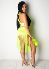 Dance With Me Fringe Mini Dress