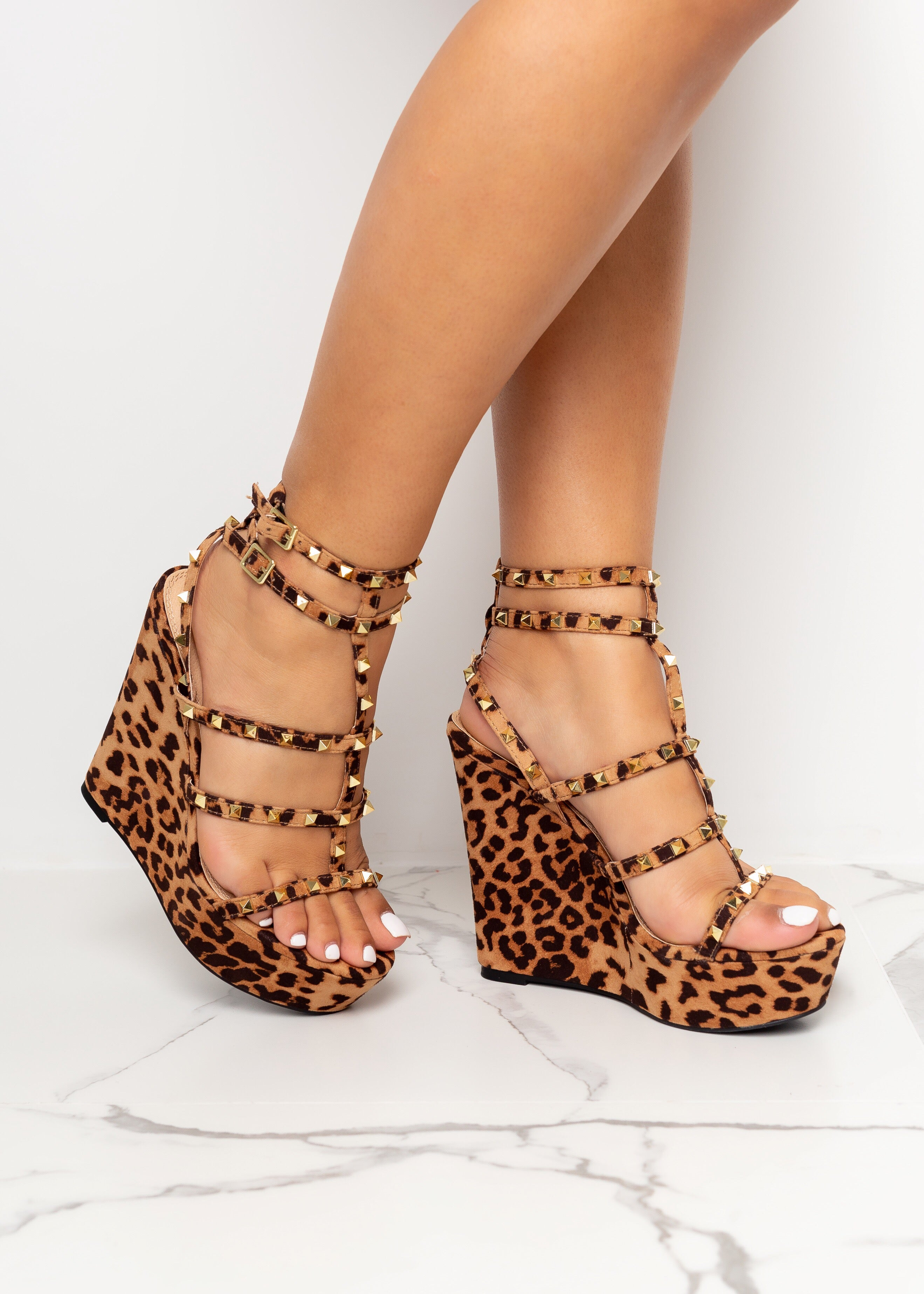 Walk My Way Leopard Wedges