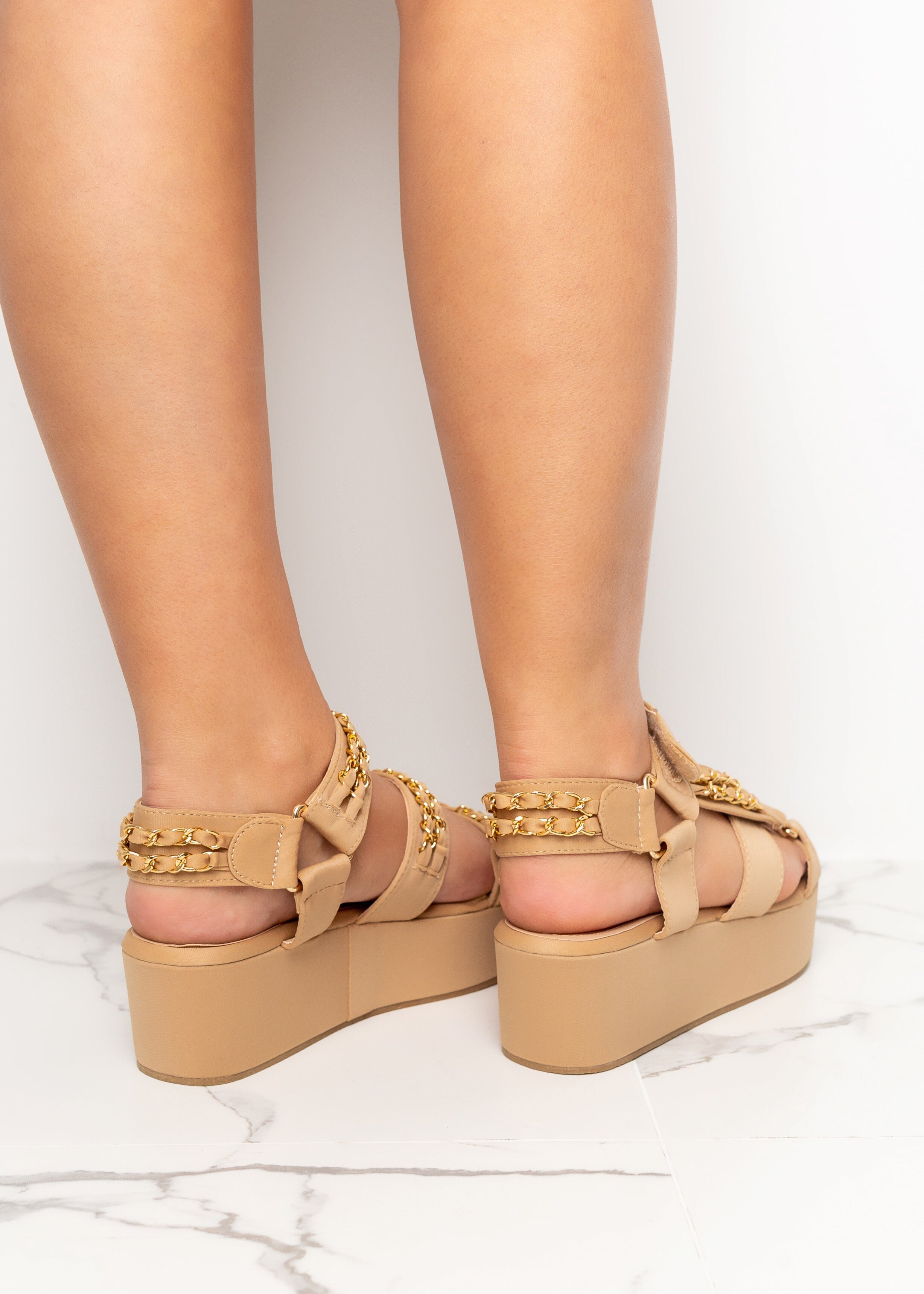 Be Right Back Nude Sandals