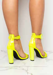 All The Time Neon Yellow Heels