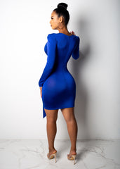 21 And Slaying Blue Stretchy Mini Dress
