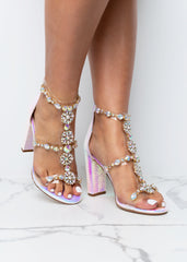 How I Like It Pink Holographic Heels