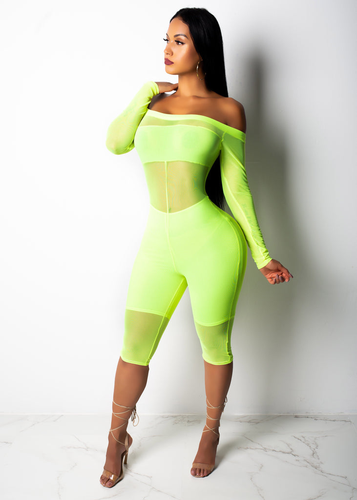 All About This Neon Romper