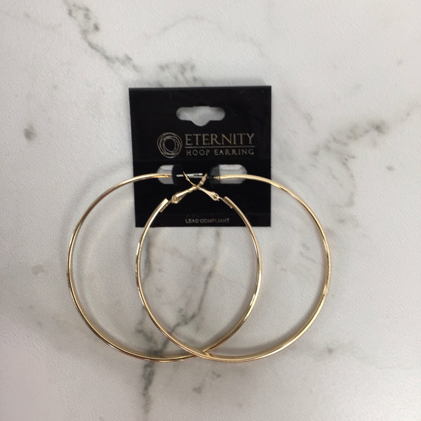 Medium Thick Hoop Earrings