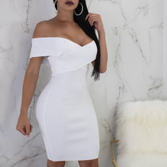 Grace Off The Shoulder Pearl Midi