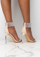 Bling All About it Nude Heels