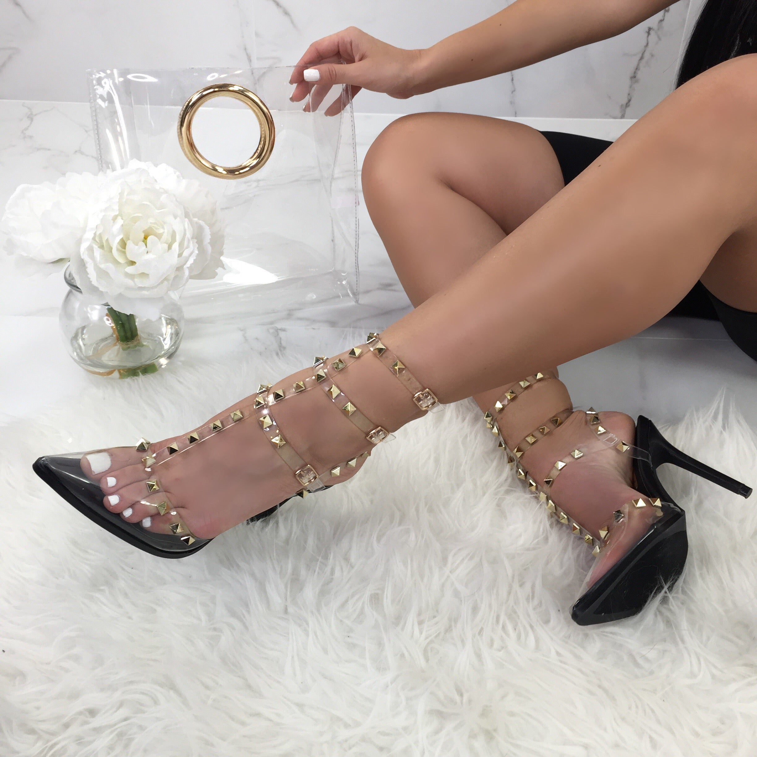 Headliner Black Studded Heels – Diva Boutique Online 52b9e4afb86b