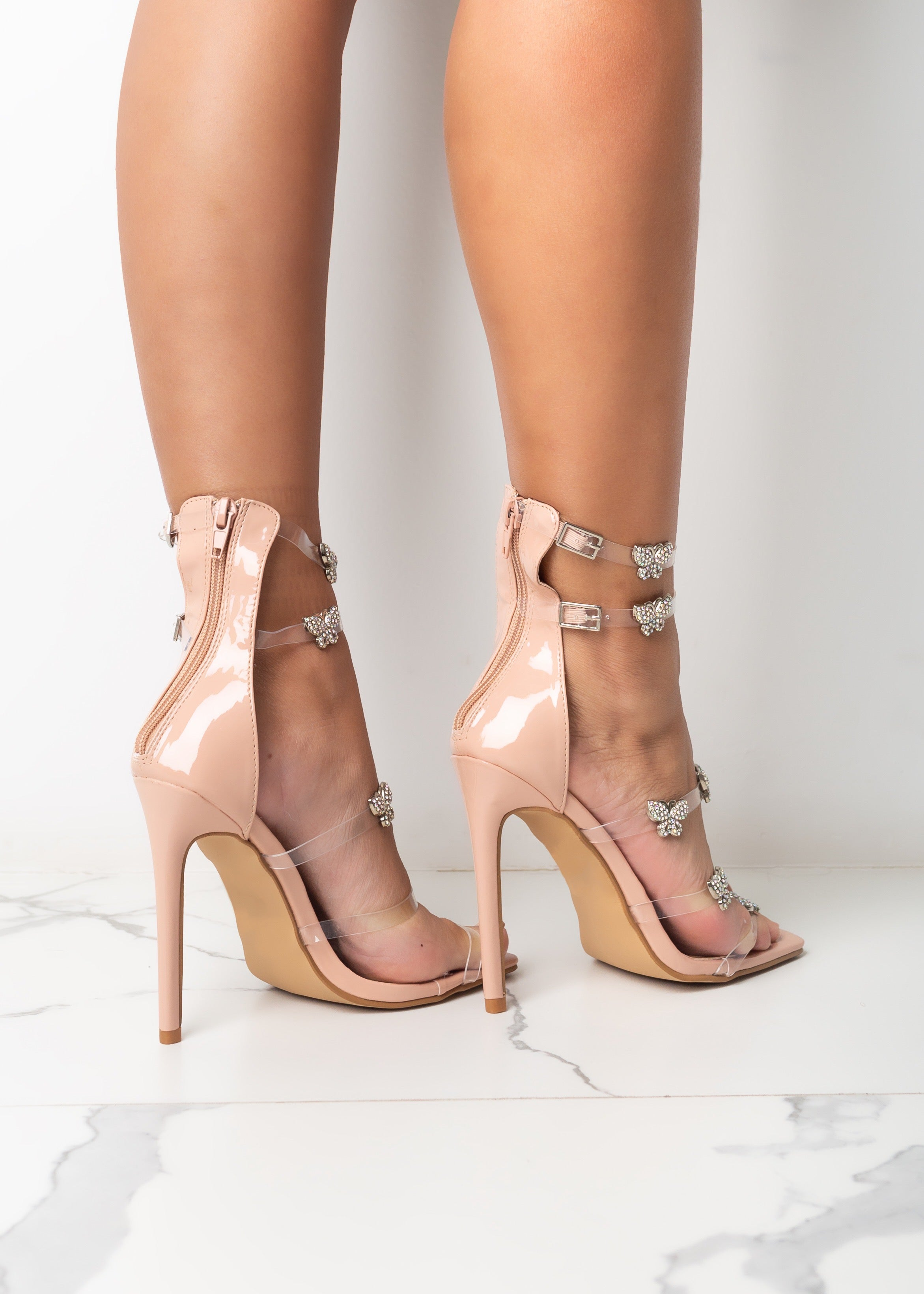 Clear The Air Nude Heels