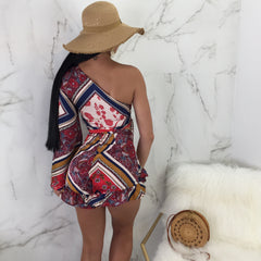 Gitana One Shoulder Shorts Set