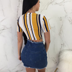 In Distress Denim Skirt