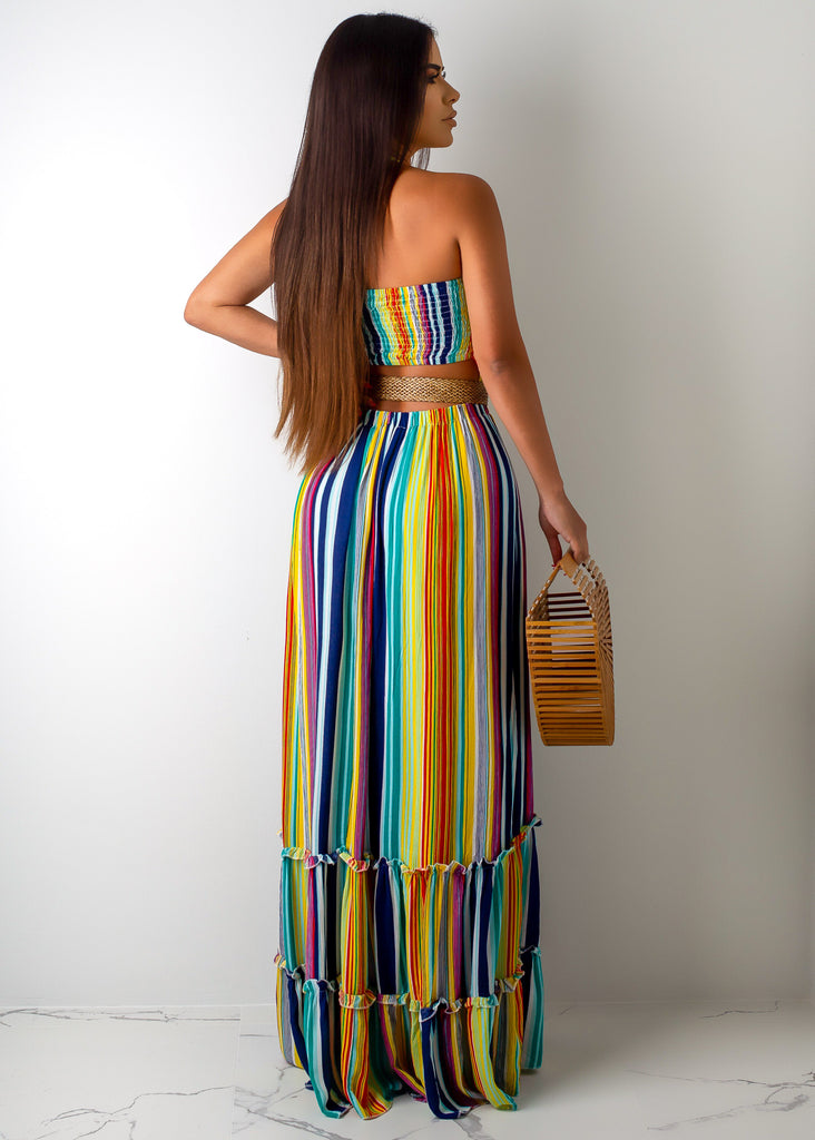 Drinks By The Ocean Maxi Dress