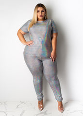 Disco Ball Pant Set