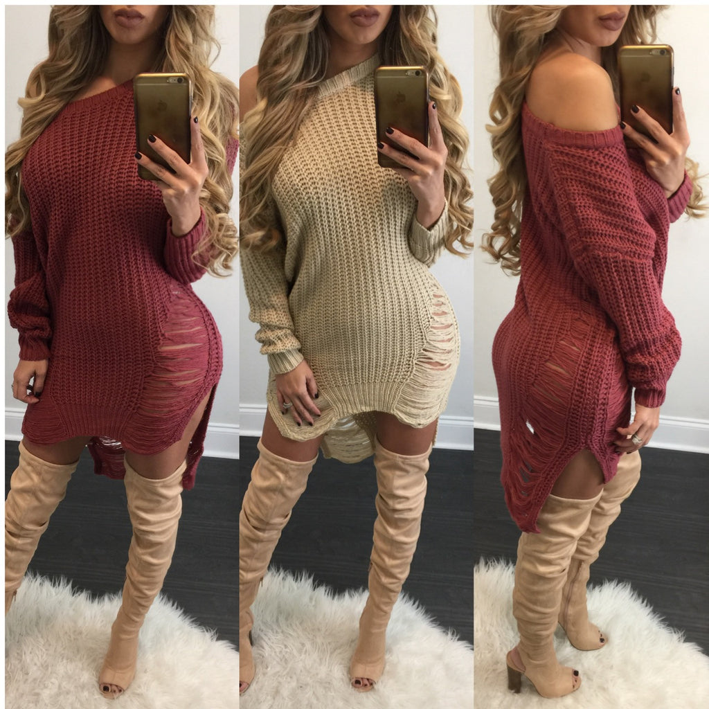 Belkis Sweater Dress - Diva Boutique Online