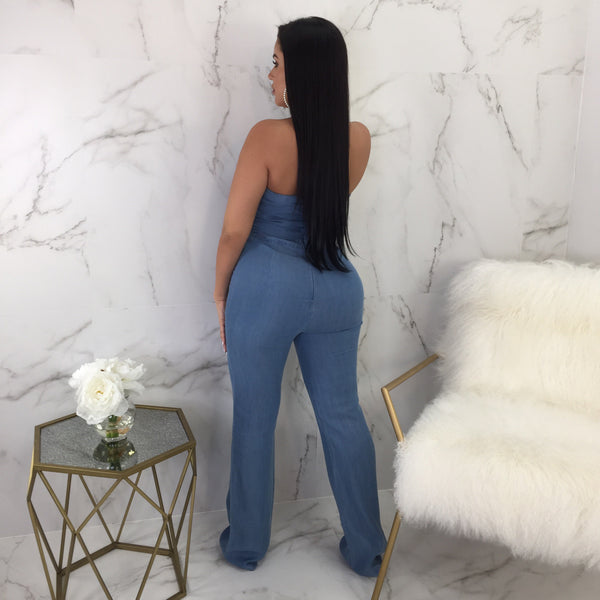 In Charge Denim Jumpsuit