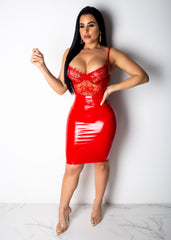 Kiss Me Latex Skirt