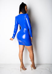 I Want It , I Get It Latex Mini Dress