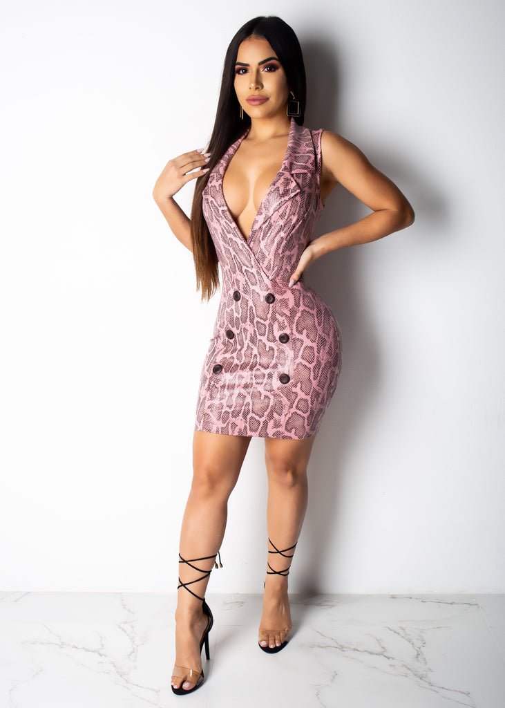Office Diva Snake Mini Dress