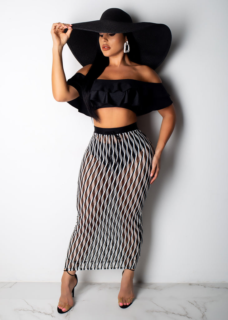 Good Vibes Only Skirt Set