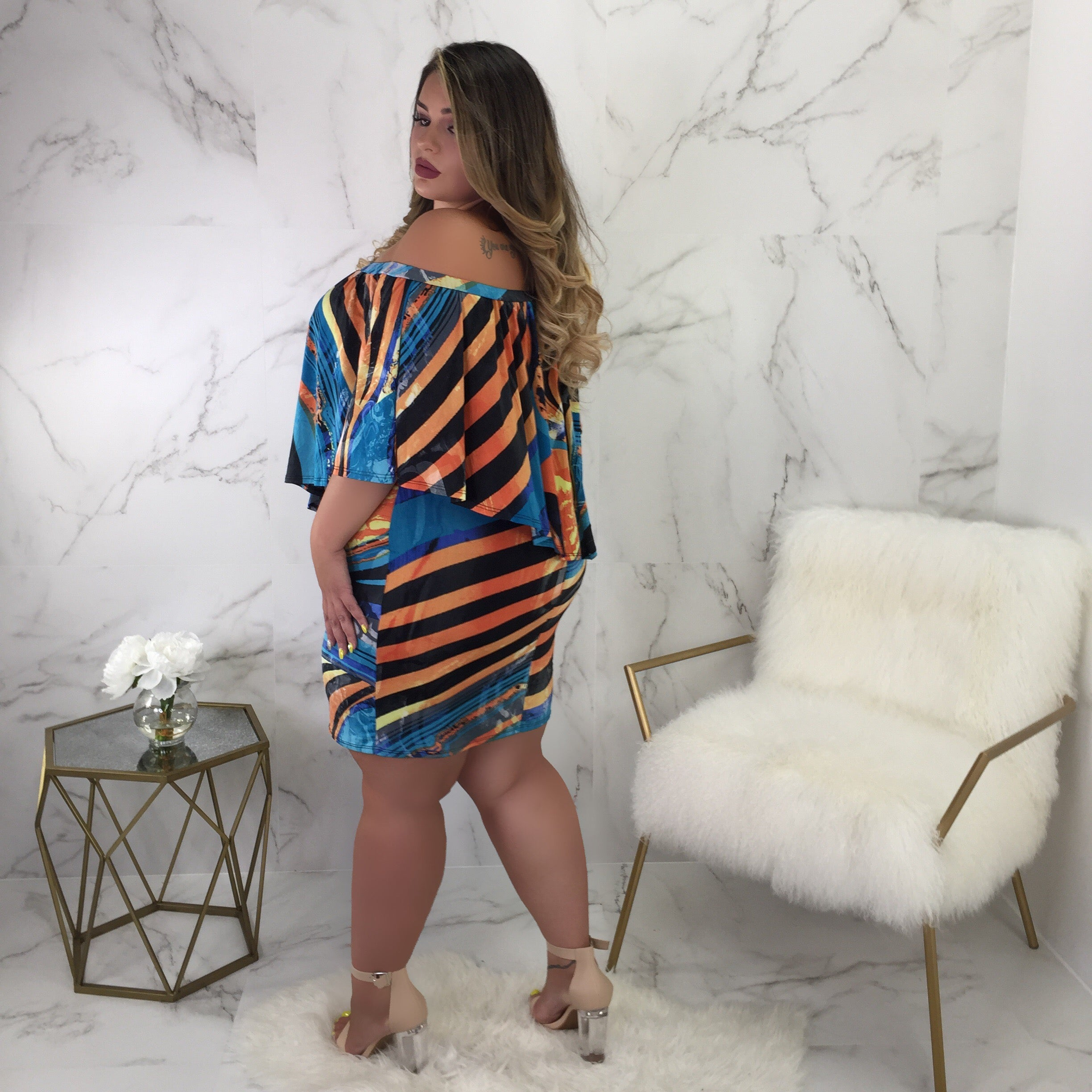 Tamara Off Shoulder Mini * Plus *