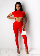 In The Fast Lane Jumpsuit Set