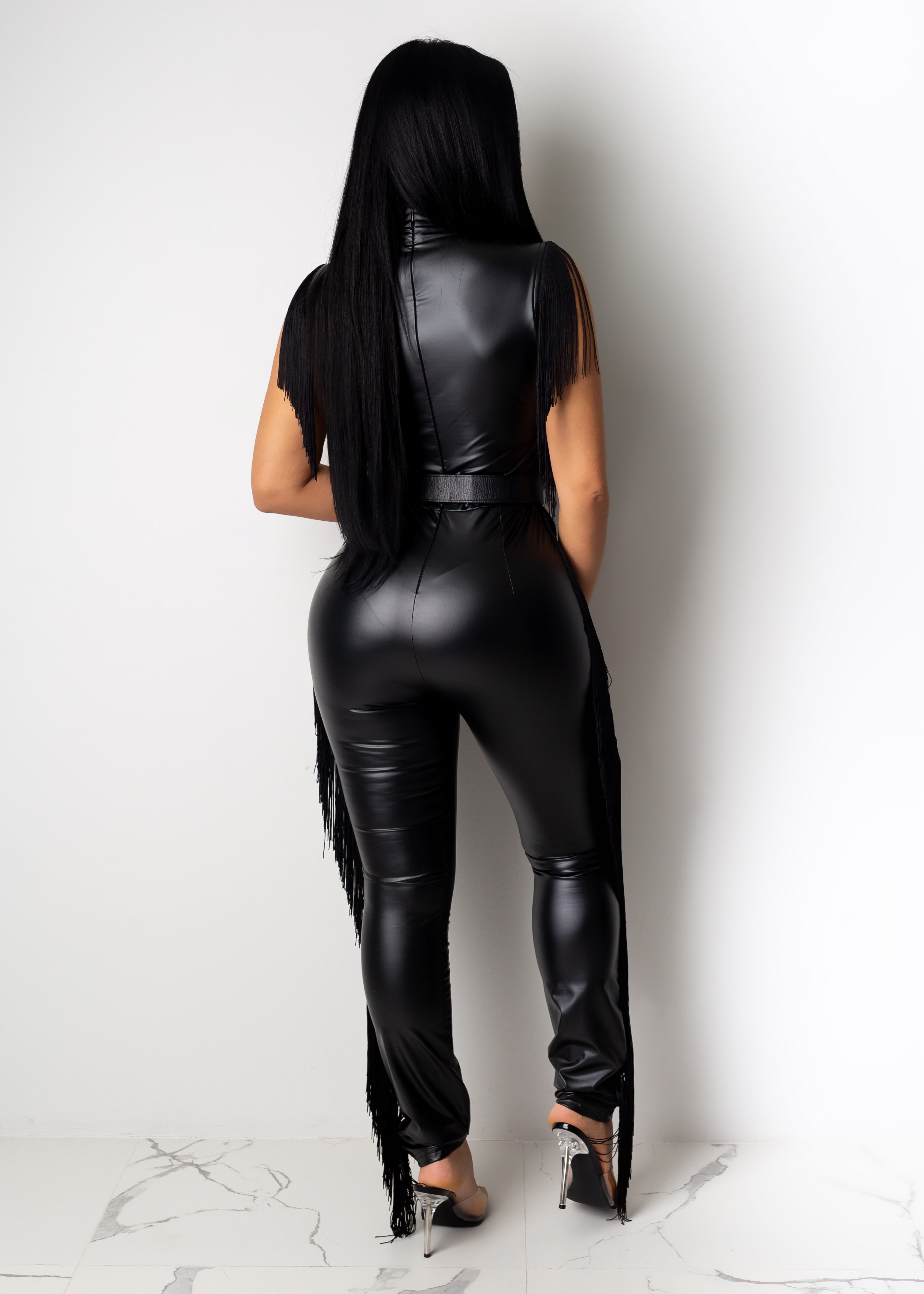 Stick With Me Latex Jumpsuit