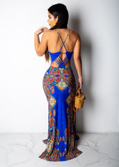 Never Ending Night In Morocco Maxi Dress