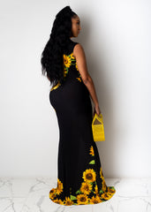 Sunflower Baby Maxi Dress