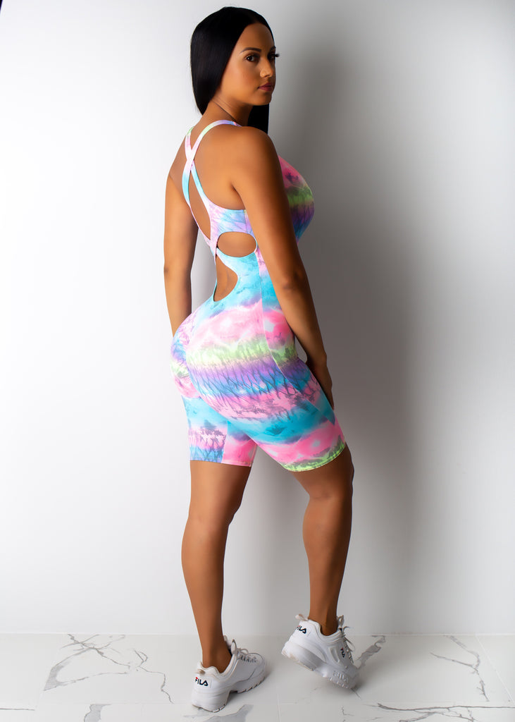 Cotton Candy Gym Romper