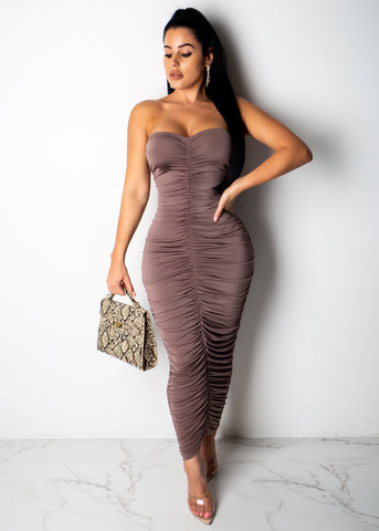 Touch My Heart Midi Dress