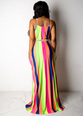Joyful Ride Striped Maxi Dress