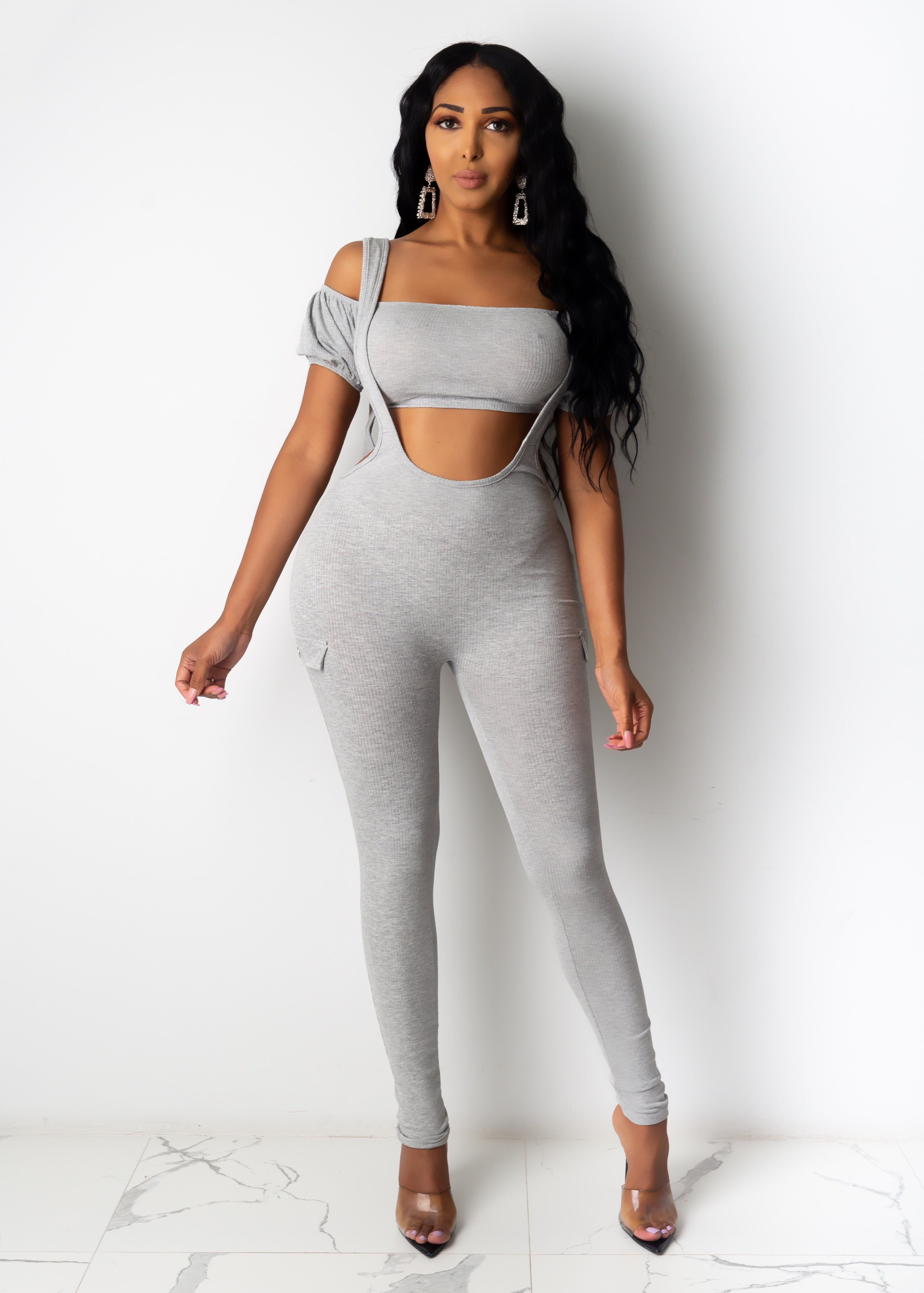 Not In The Mood Jumpsuit Set