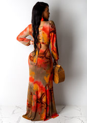 Fiery Love Maxi Dress