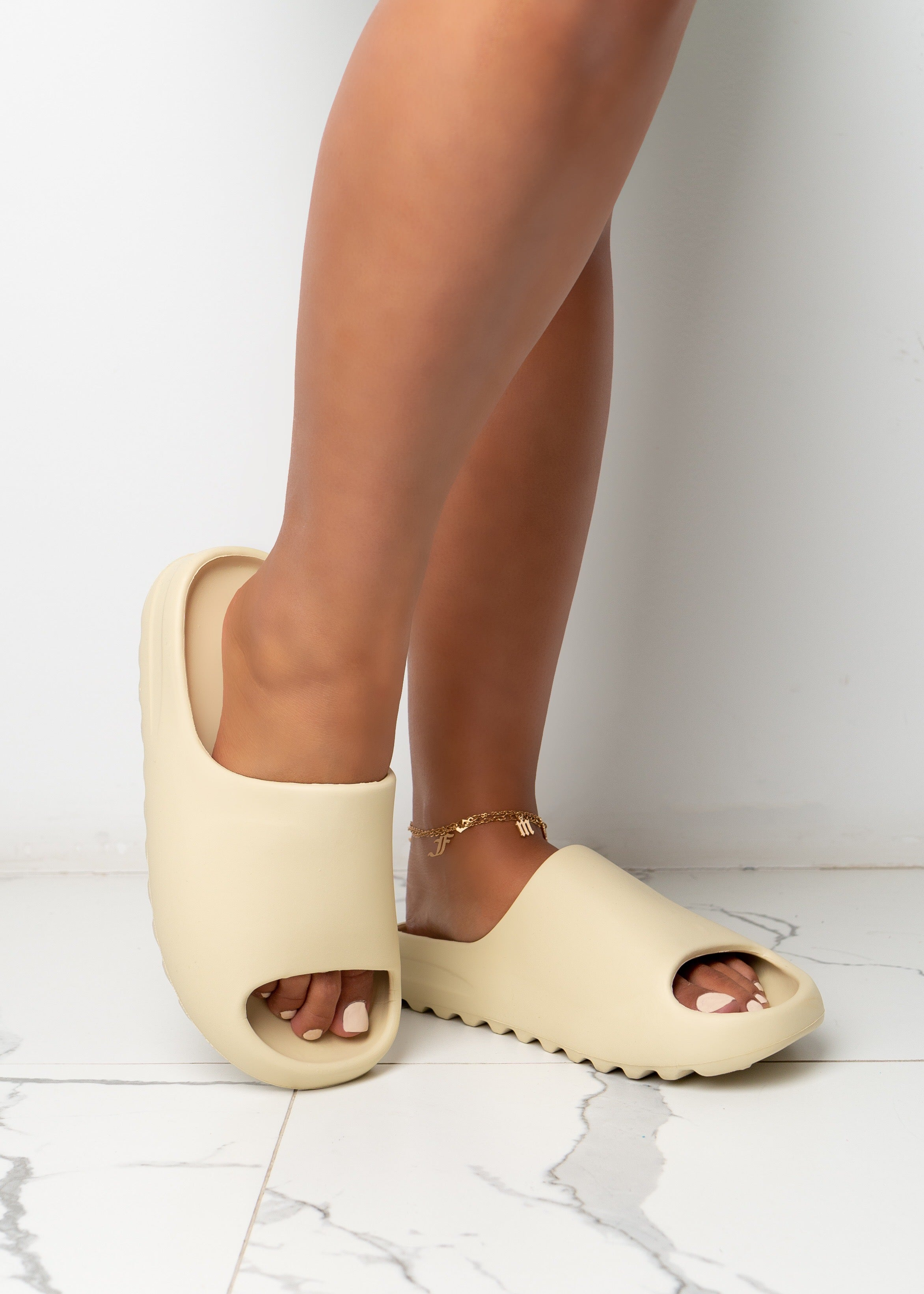 Dangerously Obsessed White Sandals