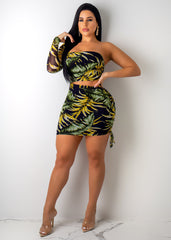 Middle Of The Jungle Mini Dress