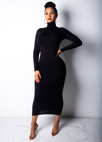 Tight And Warm Midi Dress