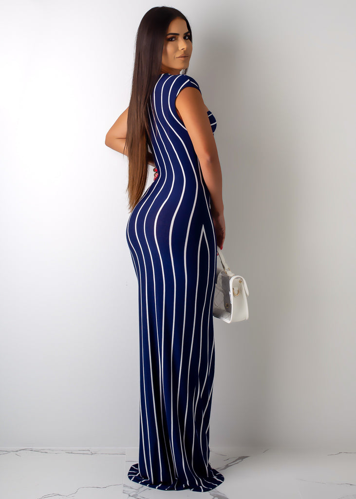 Let's Make A Deal Striped Maxi Dress