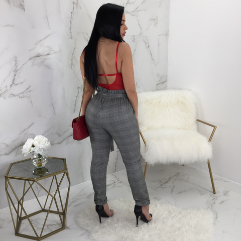 Sofia High Waisted Houndstooth Pants