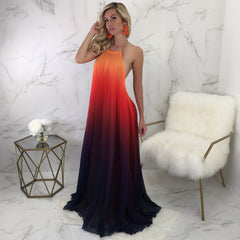 Gloria Fire Open Back Maxi