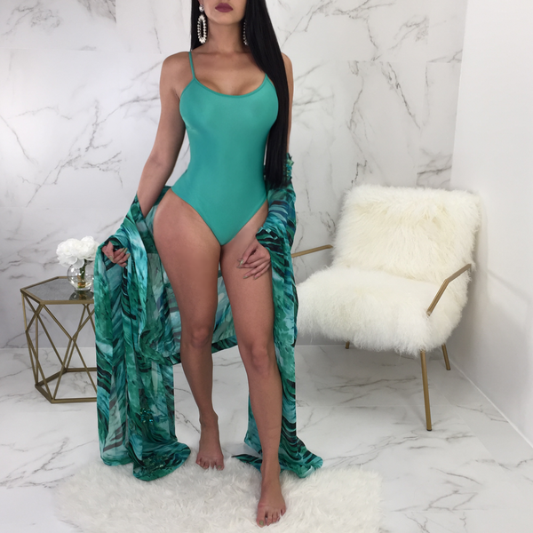 Tania Sequin Mesh Swimsuit / Coverup