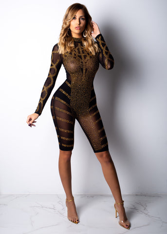 Laced In 24k Gold Romper