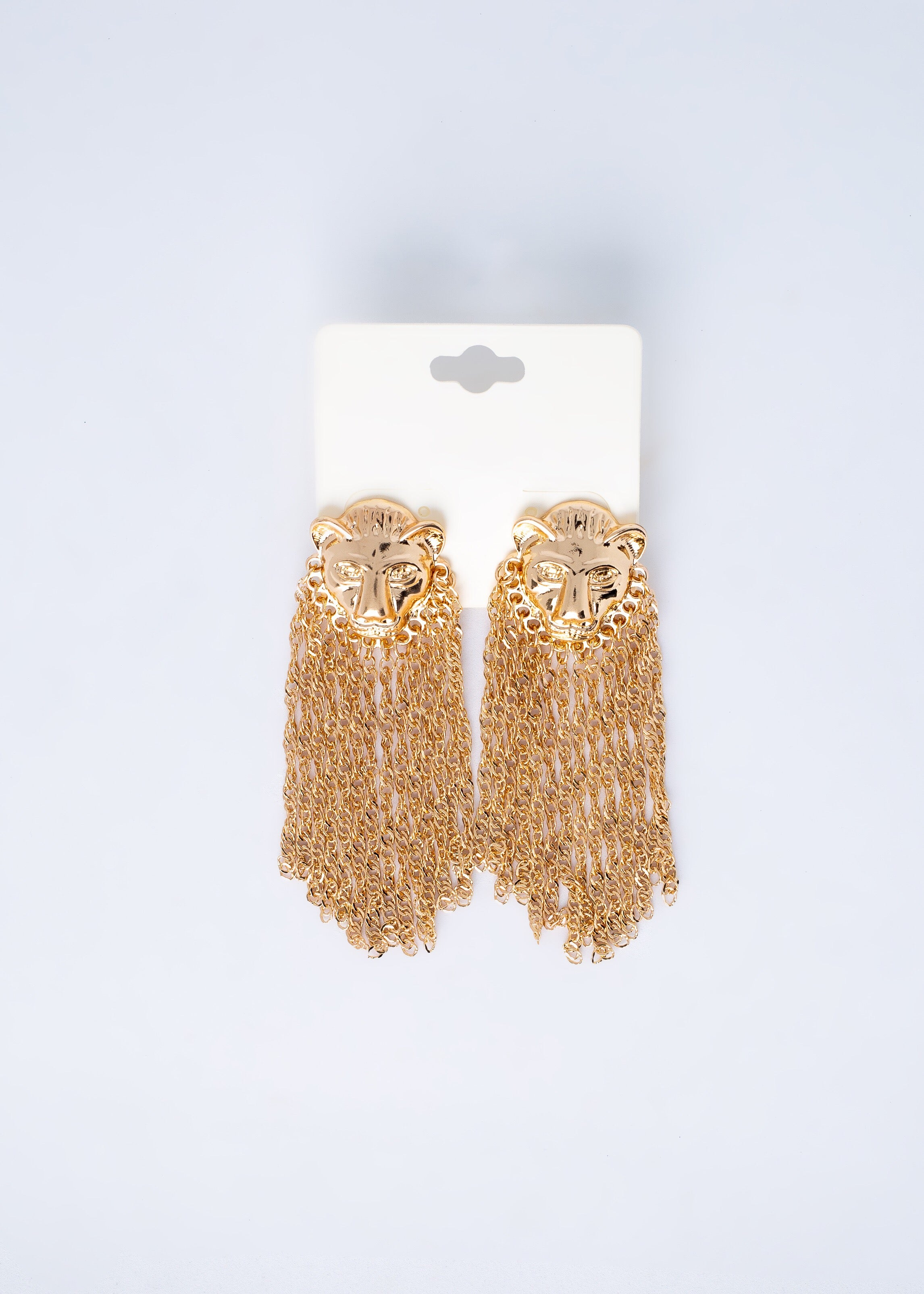 Lion Tassel Earrings