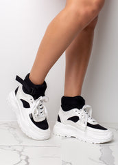 High Hopes Black Platform Sneaker