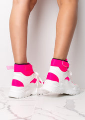 High Hopes Neon Pink Platform Sneaker