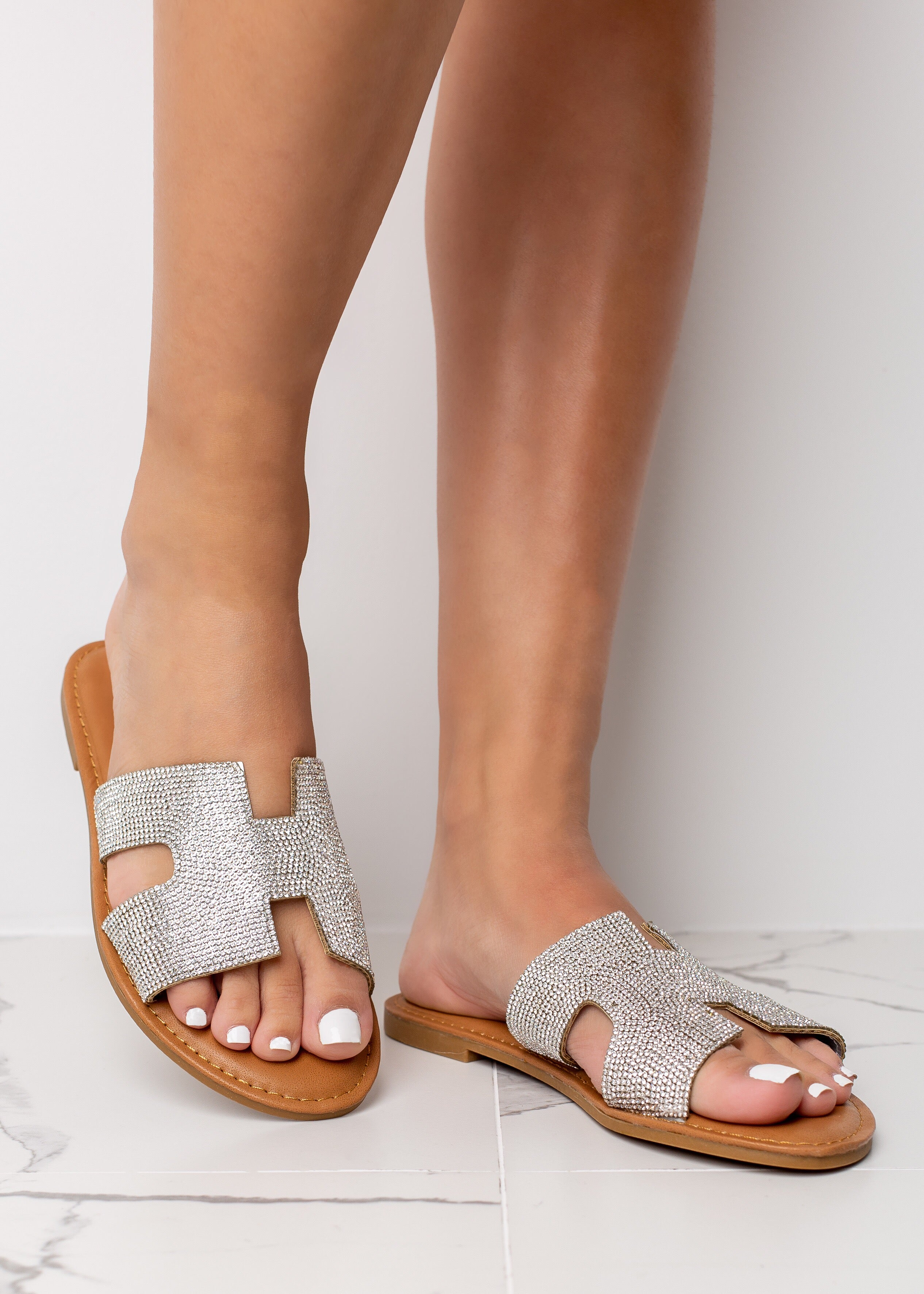 All About Glam Silver Sandals
