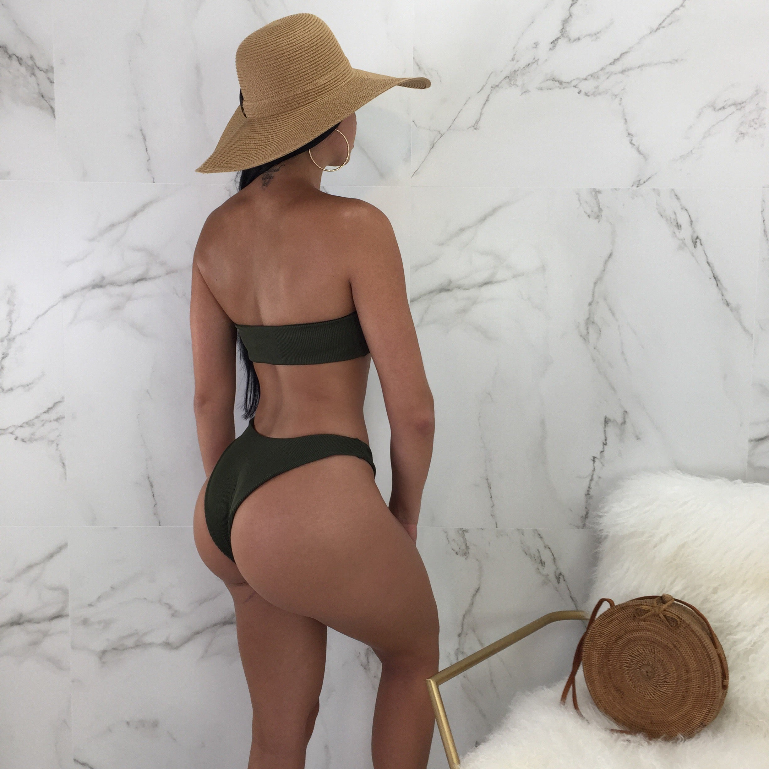 Nia Olive Two Piece Swimsuit